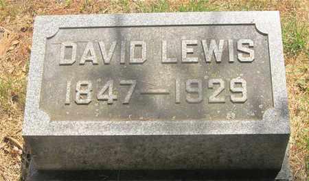 LEWIS, DAVID - Franklin County, Ohio | DAVID LEWIS - Ohio Gravestone Photos