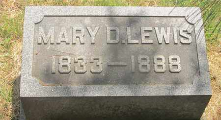 LEWIS, MARY D. - Franklin County, Ohio | MARY D. LEWIS - Ohio Gravestone Photos