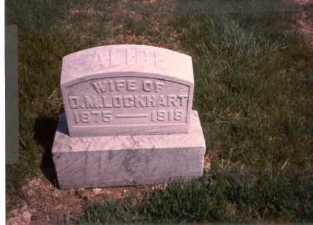 LOCKHART, ALICE - Franklin County, Ohio | ALICE LOCKHART - Ohio Gravestone Photos
