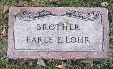 LOHR, EARLE E. - Franklin County, Ohio   EARLE E. LOHR - Ohio Gravestone Photos