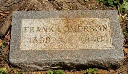 LOMERSON, FRANK - Franklin County, Ohio   FRANK LOMERSON - Ohio Gravestone Photos