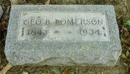 LOMERSON, GEO. B. - Franklin County, Ohio   GEO. B. LOMERSON - Ohio Gravestone Photos