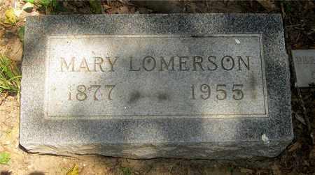 LOMERSON, MARY - Franklin County, Ohio   MARY LOMERSON - Ohio Gravestone Photos