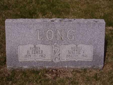 LONG, MATTIE V. - Franklin County, Ohio | MATTIE V. LONG - Ohio Gravestone Photos