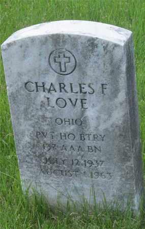 LOVE, CHARLES F. - Franklin County, Ohio   CHARLES F. LOVE - Ohio Gravestone Photos