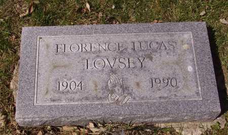 LOVSEY, FLORENCE - Franklin County, Ohio | FLORENCE LOVSEY - Ohio Gravestone Photos