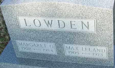 LOWDEN, MAX LELAND - Franklin County, Ohio | MAX LELAND LOWDEN - Ohio Gravestone Photos