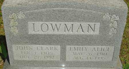 LOWMAN, EMILY ALICE - Franklin County, Ohio | EMILY ALICE LOWMAN - Ohio Gravestone Photos