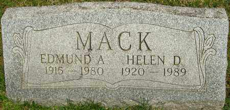 MACK, EDMUND A - Franklin County, Ohio | EDMUND A MACK - Ohio Gravestone Photos