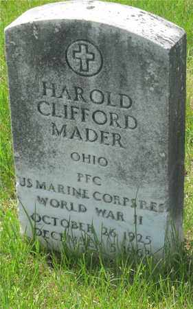 MADER, HAROLD CLIFFORD - Franklin County, Ohio | HAROLD CLIFFORD MADER - Ohio Gravestone Photos