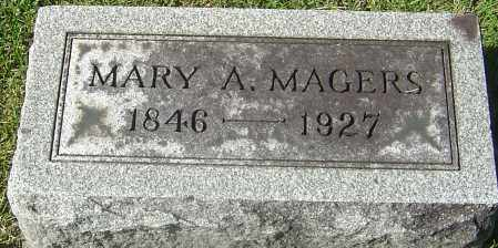 CRAWFORD MAGERS, MARY A - Franklin County, Ohio | MARY A CRAWFORD MAGERS - Ohio Gravestone Photos