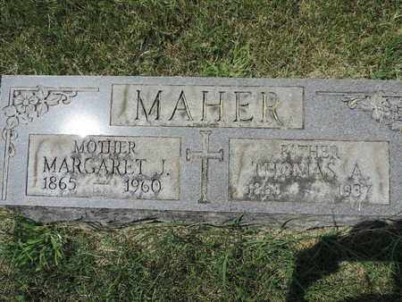 MAHER, MARGARET J. - Franklin County, Ohio | MARGARET J. MAHER - Ohio Gravestone Photos
