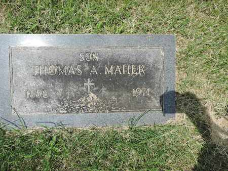 MAHER, THOMAS A. - Franklin County, Ohio | THOMAS A. MAHER - Ohio Gravestone Photos