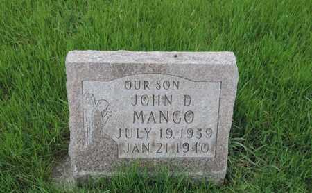 MANGO, JOHN D - Franklin County, Ohio | JOHN D MANGO - Ohio Gravestone Photos