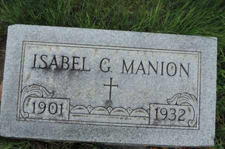 MANION, ISABEL G. - Franklin County, Ohio | ISABEL G. MANION - Ohio Gravestone Photos