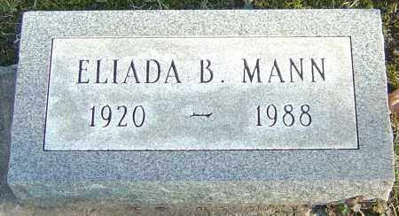 MANN, ELIADA B - Franklin County, Ohio | ELIADA B MANN - Ohio Gravestone Photos