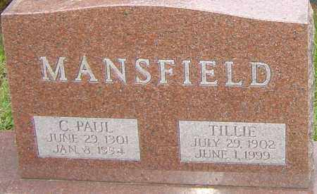 MANSFIELD, TILLIE - Franklin County, Ohio | TILLIE MANSFIELD - Ohio Gravestone Photos