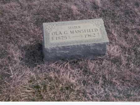 MANSFIELD, OLA G. - Franklin County, Ohio | OLA G. MANSFIELD - Ohio Gravestone Photos