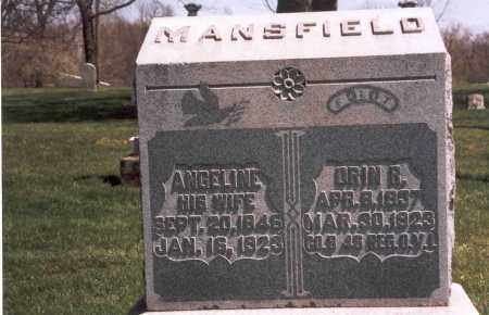 MANSFIELD, ANGELINE - Franklin County, Ohio | ANGELINE MANSFIELD - Ohio Gravestone Photos