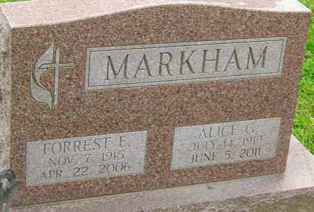 MARKHAM, ALICE - Franklin County, Ohio | ALICE MARKHAM - Ohio Gravestone Photos