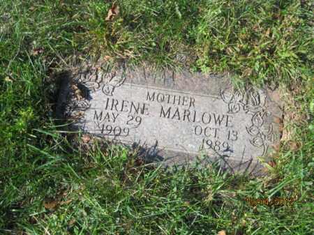 MARLOWE, IRENE IVA MOORE - Franklin County, Ohio   IRENE IVA MOORE MARLOWE - Ohio Gravestone Photos