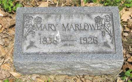MARLOWE, MARY - Franklin County, Ohio | MARY MARLOWE - Ohio Gravestone Photos