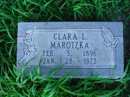MAROTZKA, CLARA L. - Franklin County, Ohio | CLARA L. MAROTZKA - Ohio Gravestone Photos