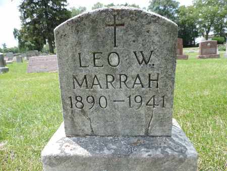 MARRAH, LEO W. - Franklin County, Ohio | LEO W. MARRAH - Ohio Gravestone Photos
