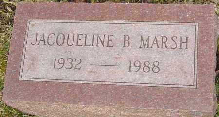 MARSH, JACQUELINE B - Franklin County, Ohio | JACQUELINE B MARSH - Ohio Gravestone Photos
