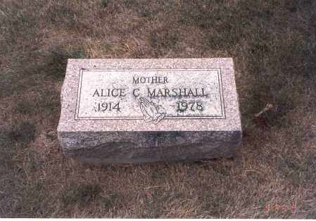MARSHALL, ALICE C. - Franklin County, Ohio | ALICE C. MARSHALL - Ohio Gravestone Photos