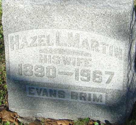 EVANS MARTIN BRIM, HAZEL L - Franklin County, Ohio | HAZEL L EVANS MARTIN BRIM - Ohio Gravestone Photos