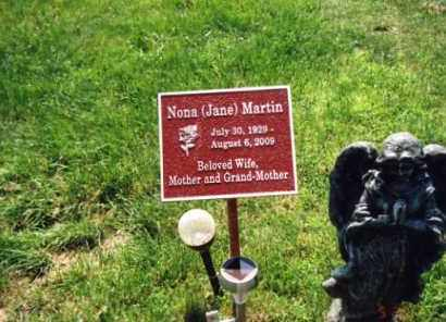 BLAKE MARTIN, NONA (JANE) - Franklin County, Ohio | NONA (JANE) BLAKE MARTIN - Ohio Gravestone Photos