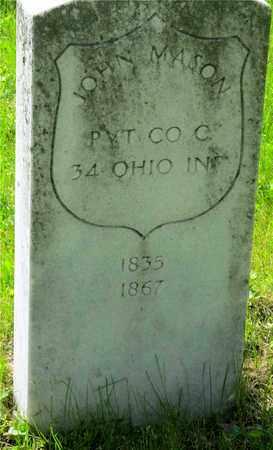 MASON, JOHN - Franklin County, Ohio | JOHN MASON - Ohio Gravestone Photos