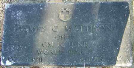 MATTISON, JAMES C - Franklin County, Ohio | JAMES C MATTISON - Ohio Gravestone Photos