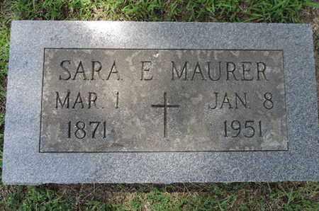 MAURER, SARA E. - Franklin County, Ohio | SARA E. MAURER - Ohio Gravestone Photos