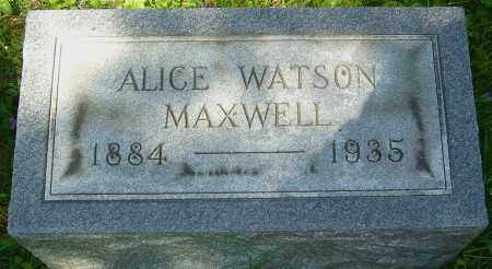 MAXWELL, ALICE - Franklin County, Ohio | ALICE MAXWELL - Ohio Gravestone Photos