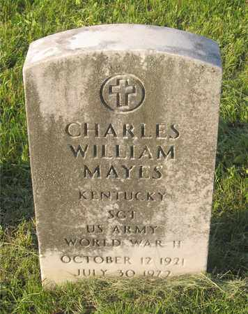 MAYES, CHARLES WILLIAM - Franklin County, Ohio | CHARLES WILLIAM MAYES - Ohio Gravestone Photos