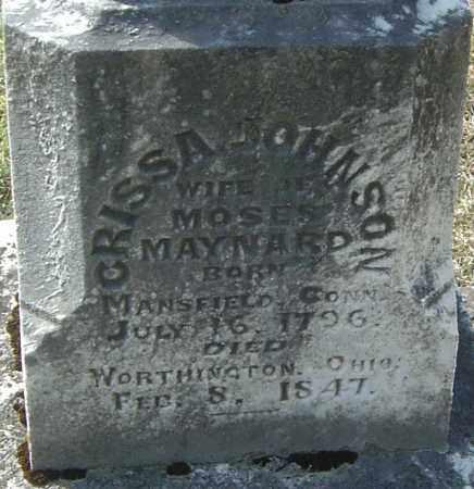 MAYNARD, CRISSA - Franklin County, Ohio   CRISSA MAYNARD - Ohio Gravestone Photos