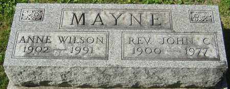 WILSON MAYNE, ANNE - Franklin County, Ohio | ANNE WILSON MAYNE - Ohio Gravestone Photos