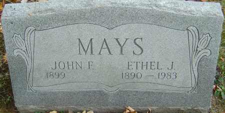 MAYS, JOHN F - Franklin County, Ohio | JOHN F MAYS - Ohio Gravestone Photos
