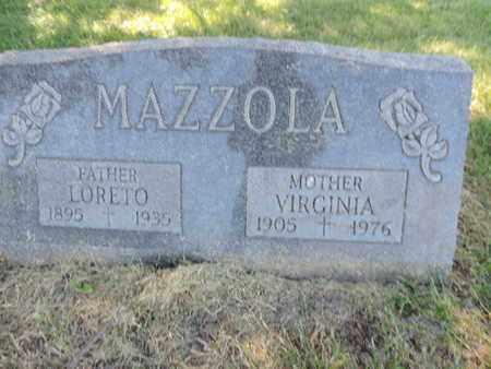 MAZZOLA, VIRGINIA - Franklin County, Ohio | VIRGINIA MAZZOLA - Ohio Gravestone Photos
