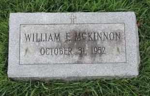 MC KINNON, WILLIAM E - Franklin County, Ohio | WILLIAM E MC KINNON - Ohio Gravestone Photos
