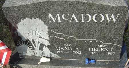 MCADOW, DANA - Franklin County, Ohio | DANA MCADOW - Ohio Gravestone Photos