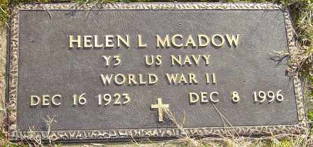 COILE MCADOW, HELEN L - Franklin County, Ohio | HELEN L COILE MCADOW - Ohio Gravestone Photos