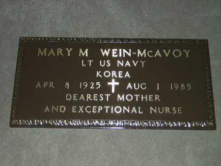 WEIN MCAVOY, MARY MARGARET - Franklin County, Ohio | MARY MARGARET WEIN MCAVOY - Ohio Gravestone Photos