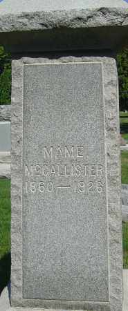 SIMMONS MCCALLISTER, MAME - Franklin County, Ohio | MAME SIMMONS MCCALLISTER - Ohio Gravestone Photos