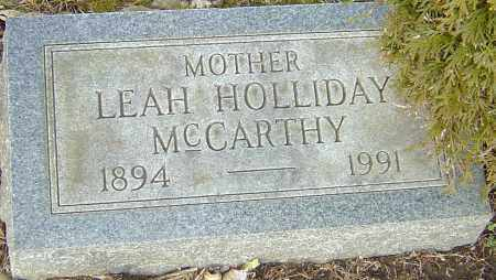MCCARTHY, LEAH - Franklin County, Ohio | LEAH MCCARTHY - Ohio Gravestone Photos