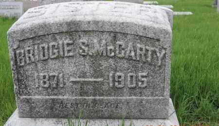 MCCARTY, BRIDGIE S - Franklin County, Ohio | BRIDGIE S MCCARTY - Ohio Gravestone Photos