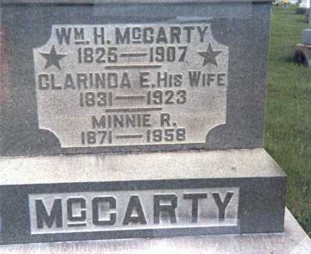 MCCARTY, MINNIE - Franklin County, Ohio   MINNIE MCCARTY - Ohio Gravestone Photos