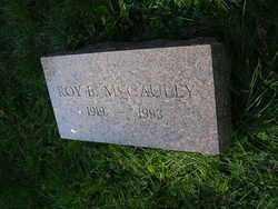 MCCAULEY, ROY - Franklin County, Ohio   ROY MCCAULEY - Ohio Gravestone Photos